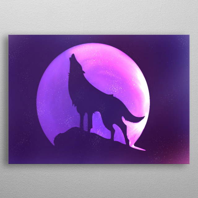 Lunar light metal poster