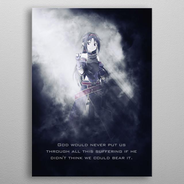 Yuuki / Sword Art Online / SAO / Tagline metal poster