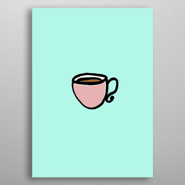 High-quality metal print from amazing Sidewalk Cafe collection will bring unique style to your space and will show off your personality. metal poster