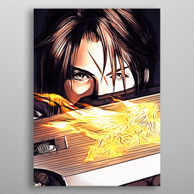 Squall Leonhart - sketch metal poster