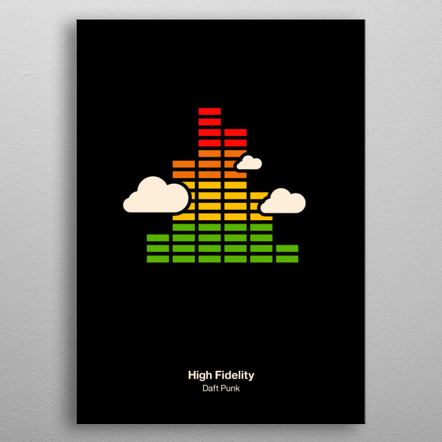 High Fidelity metal poster