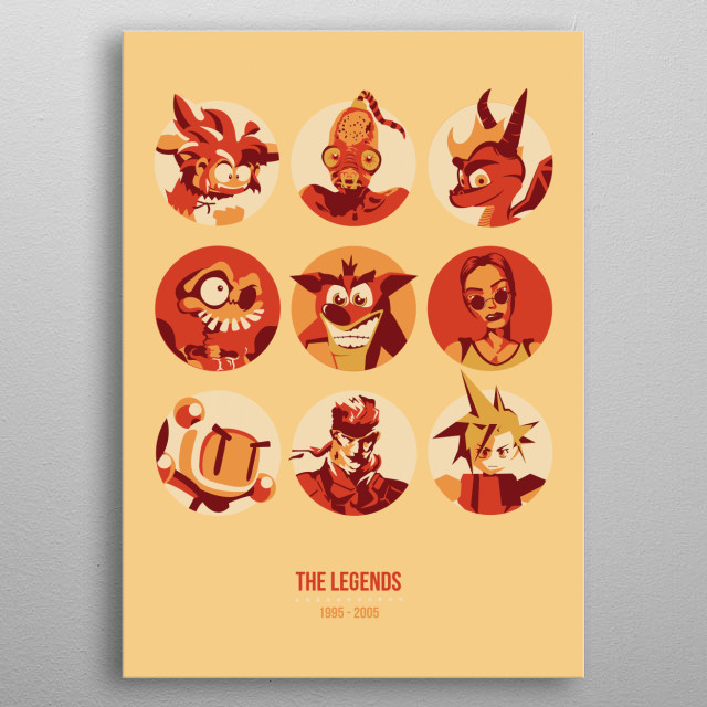 The legends  metal poster