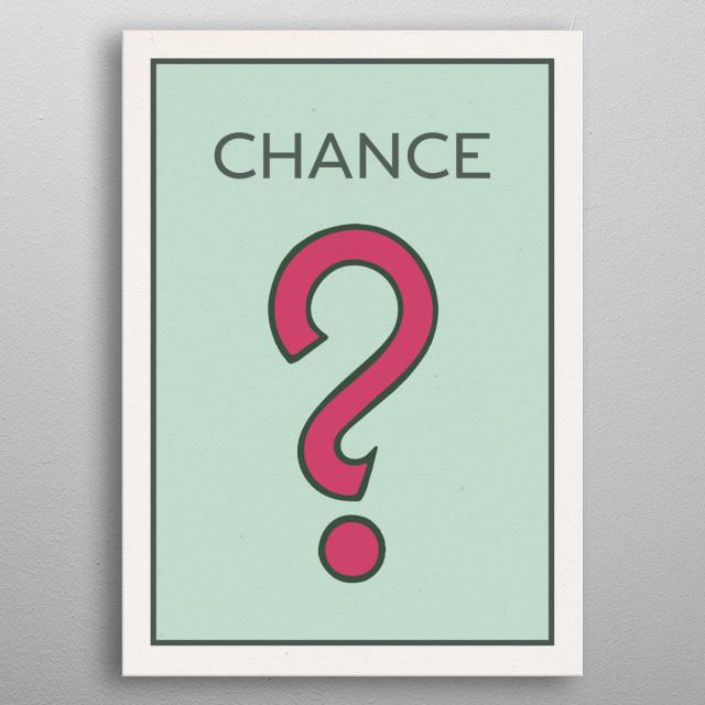 Chance Vintage Monopoly Board Game Theme Card metal poster