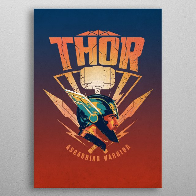 High-quality metal print from amazing Thor Ragnarok Team Ragnarok collection will bring unique style to your space and will show off your personality. metal poster
