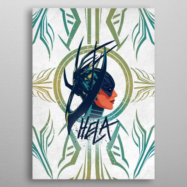 Hela metal poster