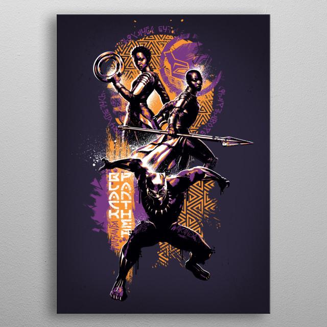 Wakanda's Finest metal poster
