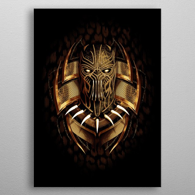 All Hail King Killmonger metal poster