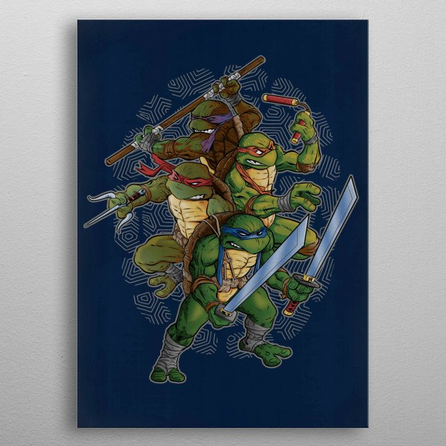THE GREEN AND THE BRAVE metal poster