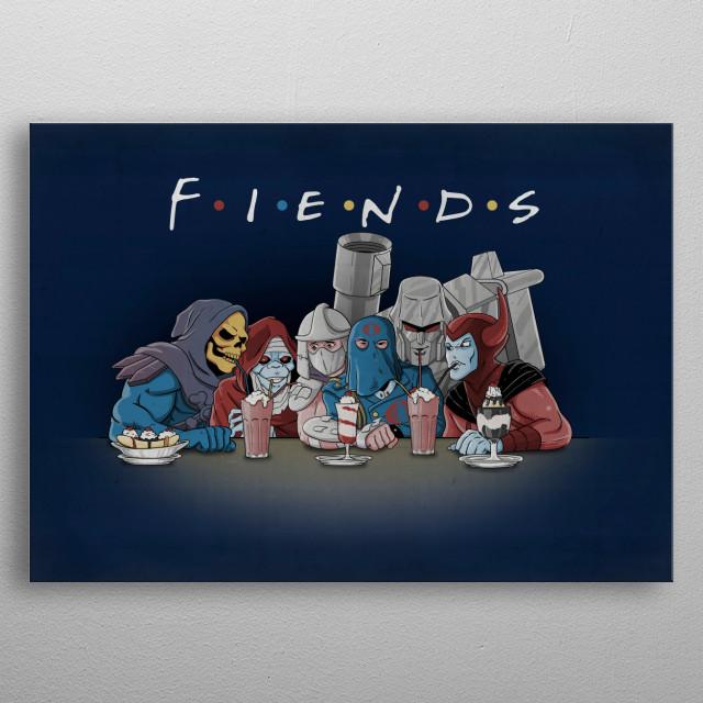 FIENDS metal poster