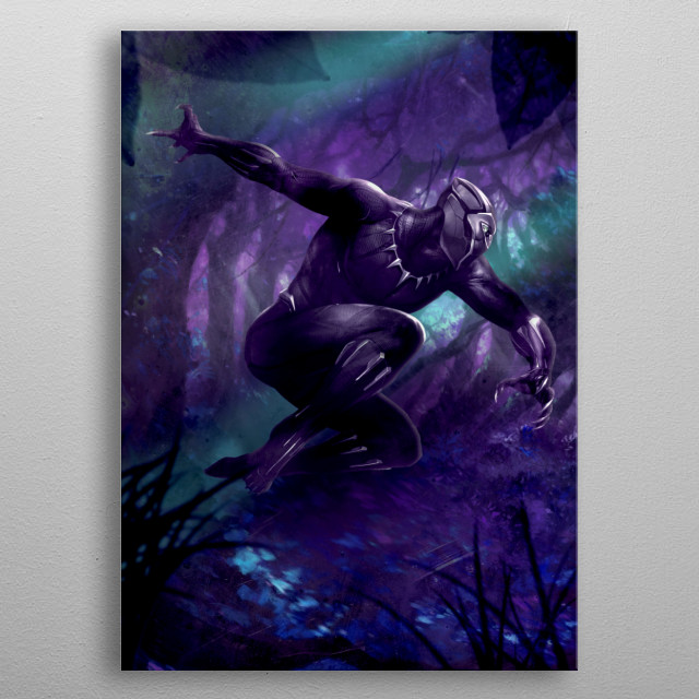 Midnight Hunter metal poster