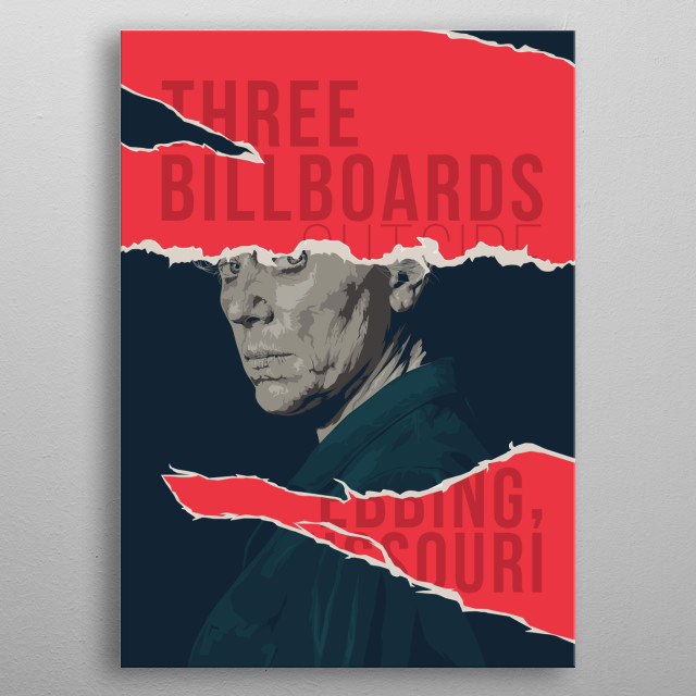 Three Billboards Outside Ebbing, Missouri metal poster