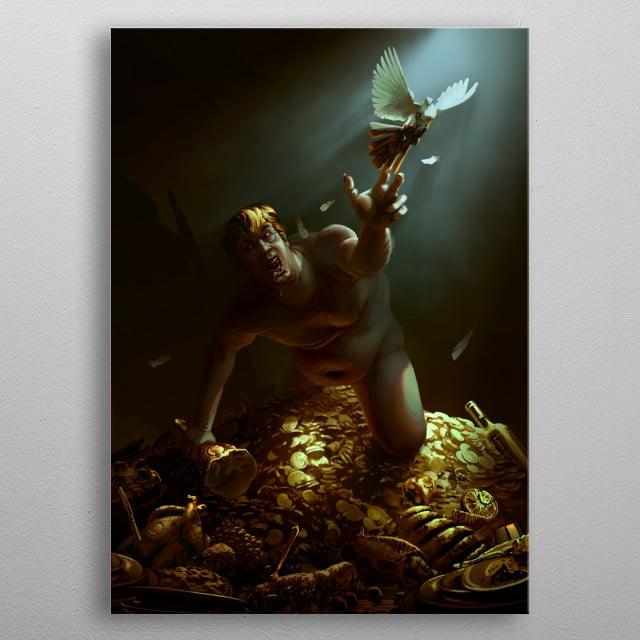 The Hunger of King Midas metal poster