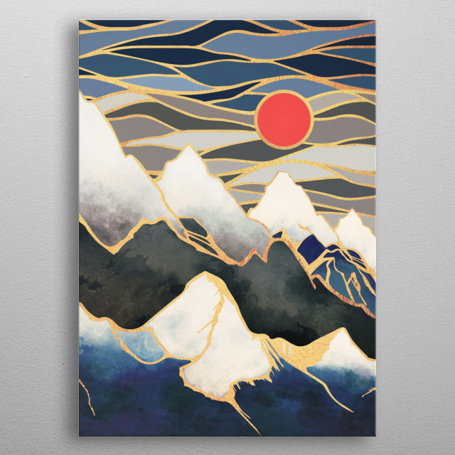 Ice Mountains metal poster