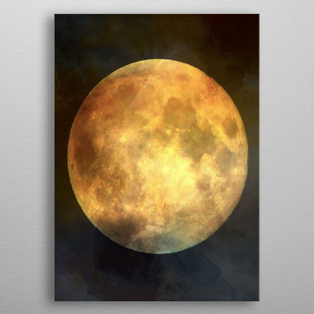 Abstract Super Moon metal poster