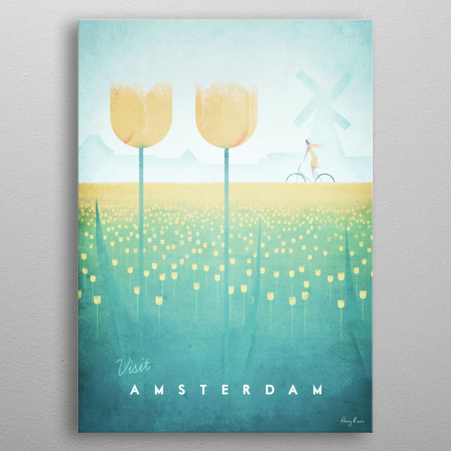 High-quality metal print from amazing Minimalist Travel Posters collection will bring unique style to your space and will show off your personality. metal poster