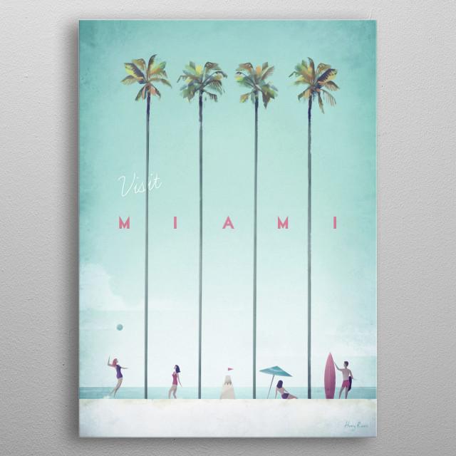 Miami metal poster