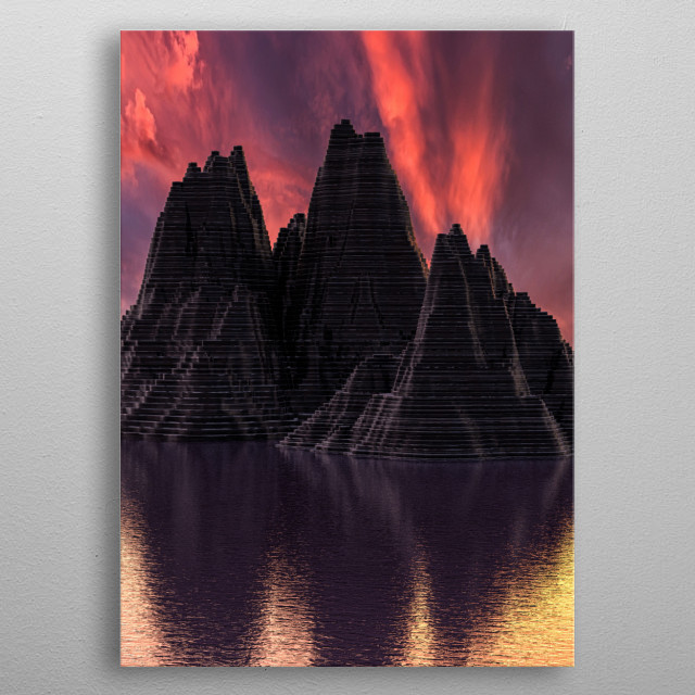 High-quality metal print from amazing Tranquil Artwork collection will bring unique style to your space and will show off your personality. metal poster