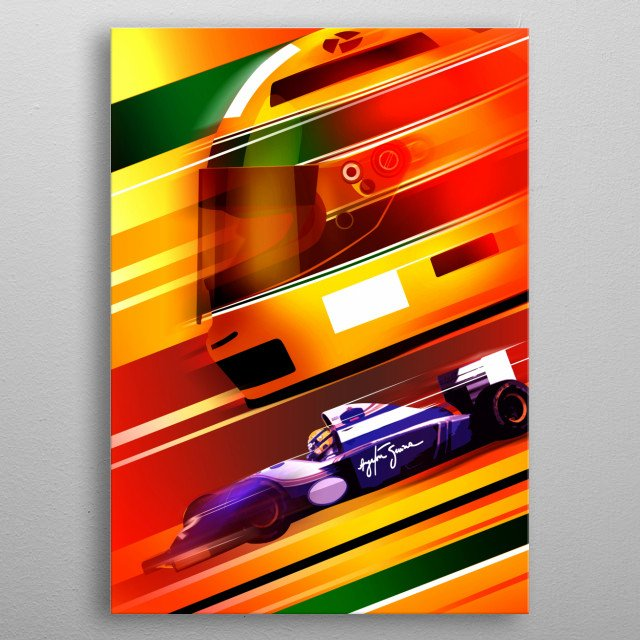 High-quality metal print from amazing F1 Helmets collection will bring unique style to your space and will show off your personality. metal poster