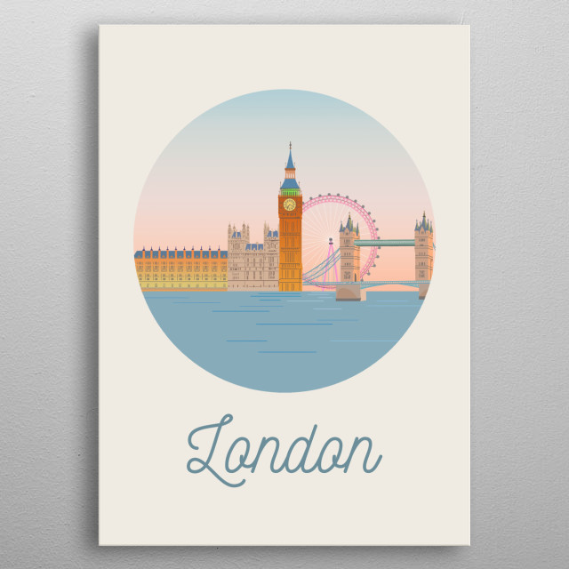High-quality metal print from amazing City Art collection will bring unique style to your space and will show off your personality. metal poster