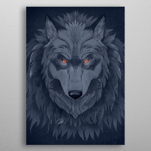 Dark Wolf metal poster