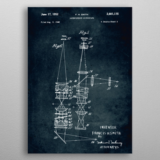 No366 - 1948 - Interference microscope metal poster