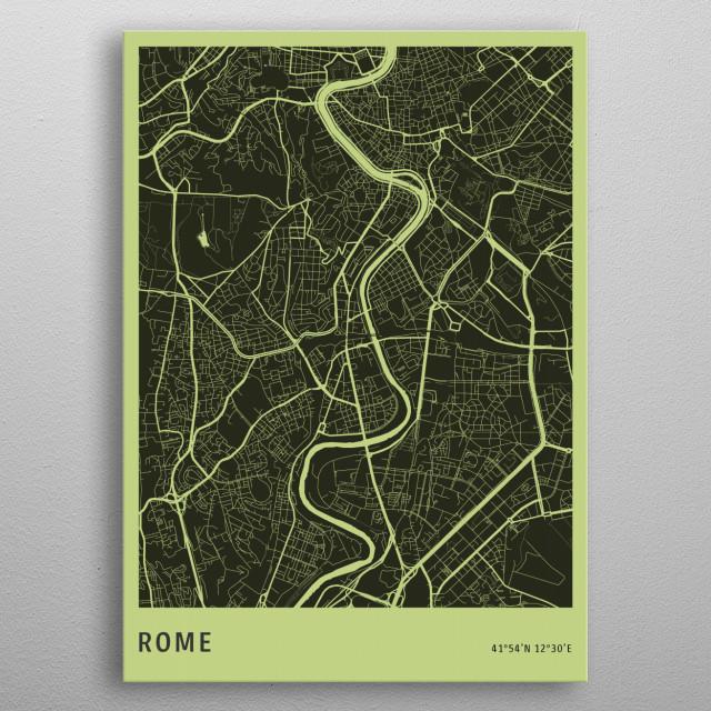 Rome metal poster