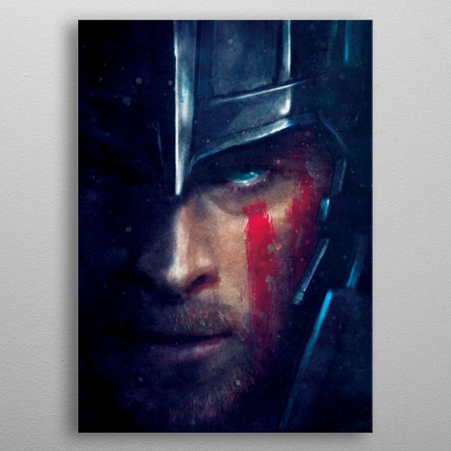High-quality metal print from amazing Thor Of Asgard collection will bring unique style to your space and will show off your personality. metal poster