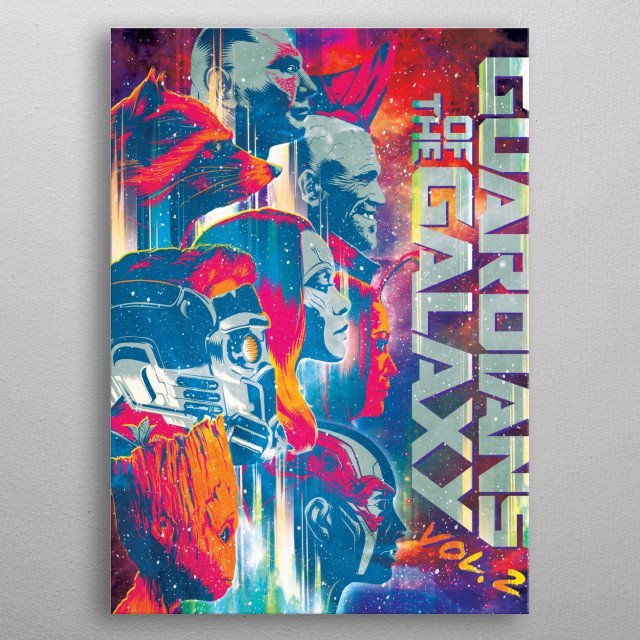 High-quality metal print from amazing Guardians Of The Galaxy Vol 2 collection will bring unique style to your space and will show off your personality. metal poster