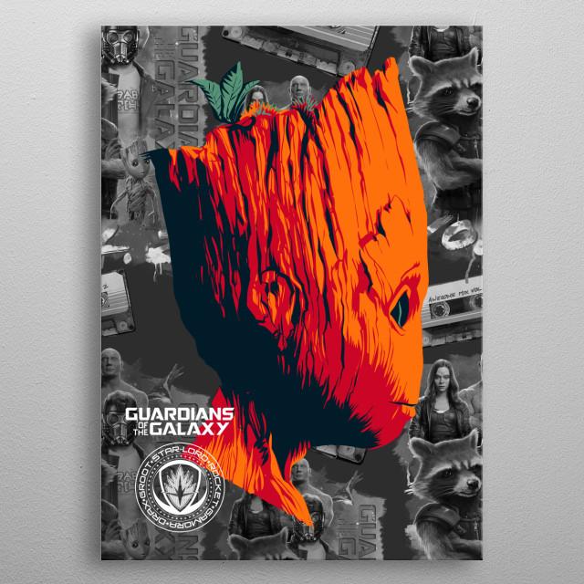Groot metal poster