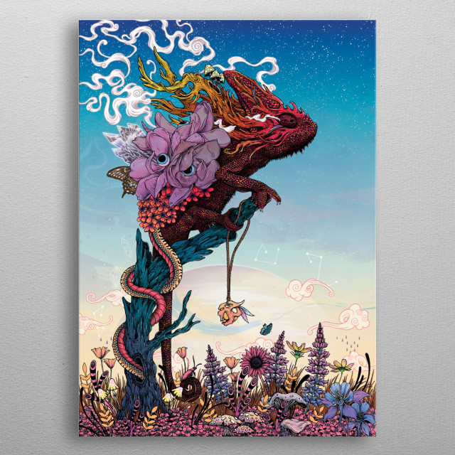 Phantasmagoria II metal poster