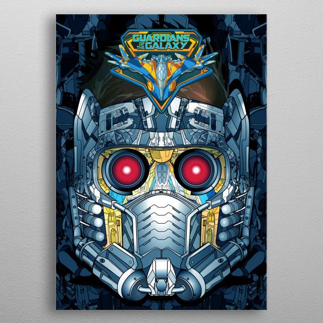 Star-Lord Helmet metal poster