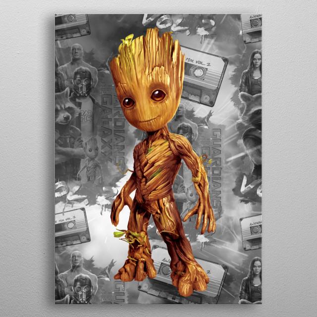Baby Groot metal poster