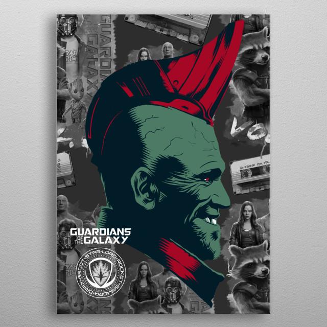 Yondu metal poster