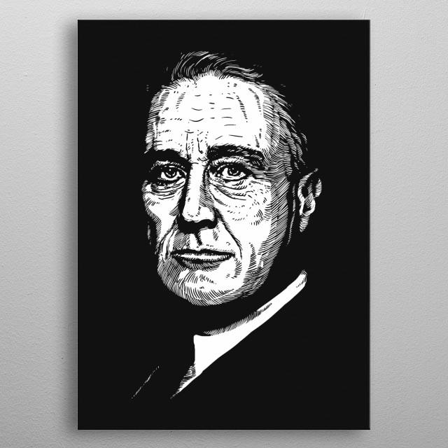 Franklin D. Roosevelt metal poster