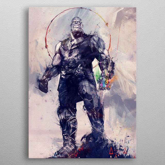 Infinity Gauntlet metal poster