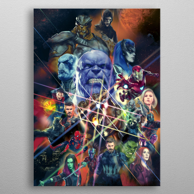 Fascinating metal poster designed by Marvel  . Displate has a unique signature and hologram on the back to add authenticity to each design. metal poster