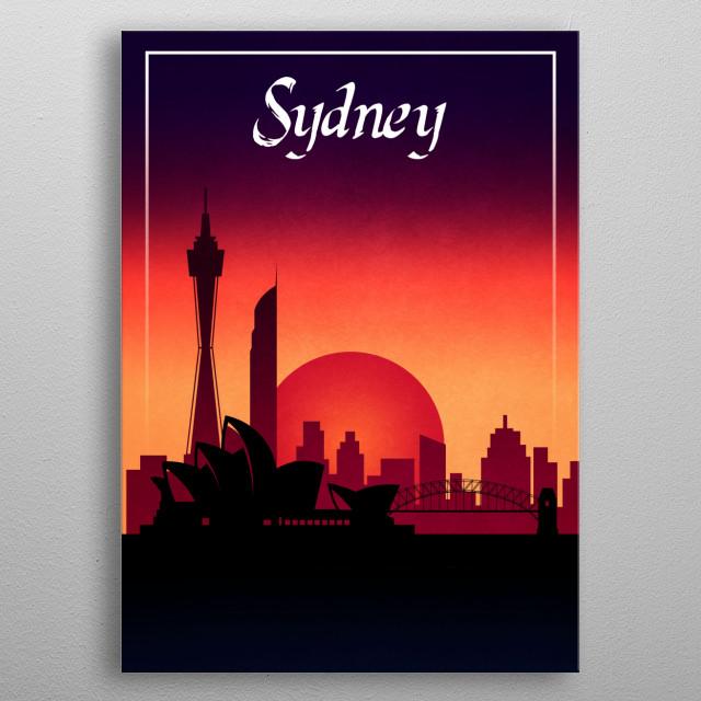Sydney metal poster