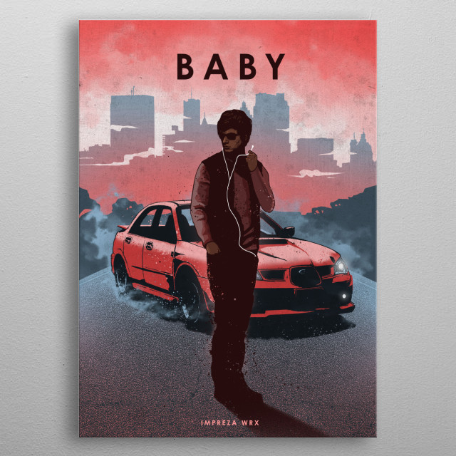 Baby Driver metal poster