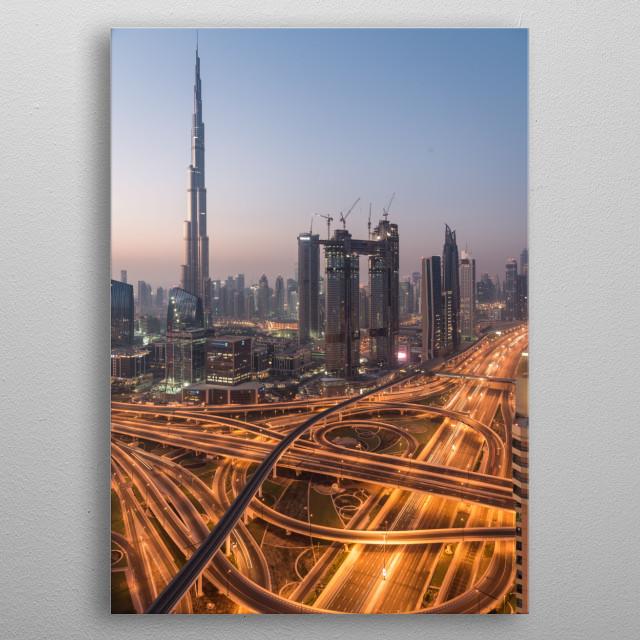 The Capitol - Dubai metal poster