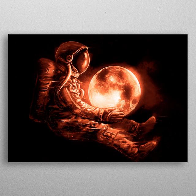Moon Play metal poster