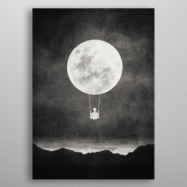 Moon Swing  metal poster