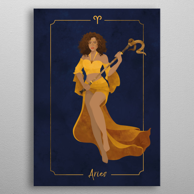 High-quality metal print from amazing Zodiac collection will bring unique style to your space and will show off your personality. metal poster