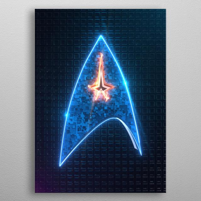 3D Star Emblem  metal poster