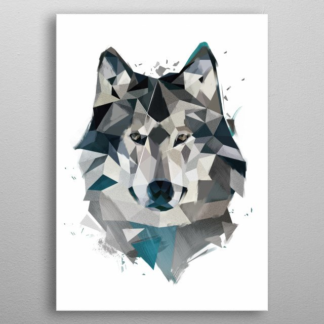 Winter Wolf metal poster