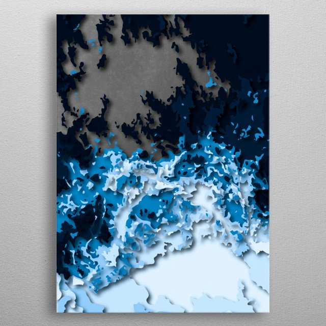 Abstract art metal poster