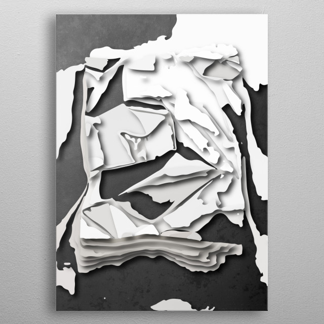 Abstract shapes  metal poster