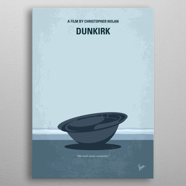No905 My Dunkirk minimal movie poster metal poster
