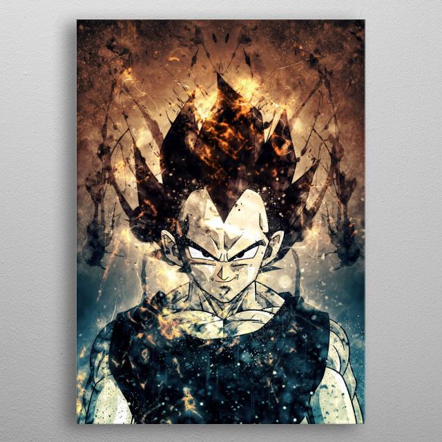vegeta metal poster