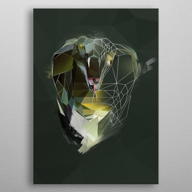 King Cobra - sketch  metal poster