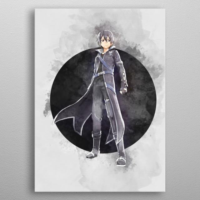 Kirito / Sword Art Online /SAO / watercolor  metal poster